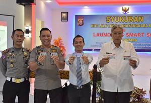 SYUKURAN HARI ULANG TAHUN LALU LINTAS BHAYANGKARA KE-64 SERTA LAUNCHING SMART SIM DI KABUPATEN SINTANG TAHUN 2019
