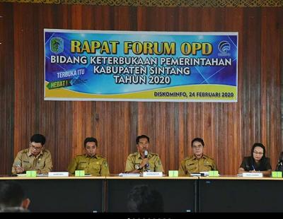 Rapat Forum OPD Bidang Keterbukaan Pemerintahan Kabupaten Sintang Tahun 2020