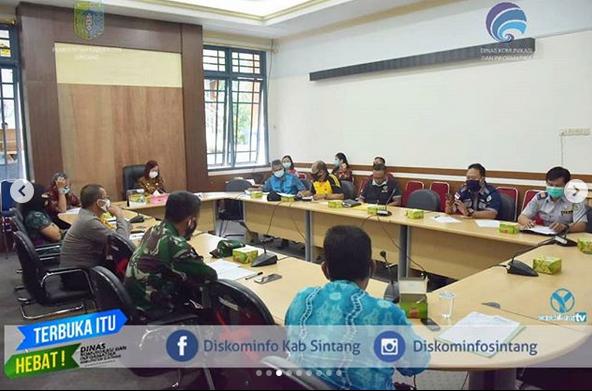Sekda Pimpin Rapat Persiapan Pengibaran Bendera Memperingati HUT RI Ke-75
