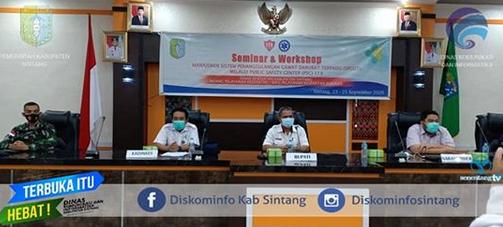 Asisten II Setda Sintang Buka Seminar dan Workshop Sistem Manajemen Penanggulangan Gawat  Darurat