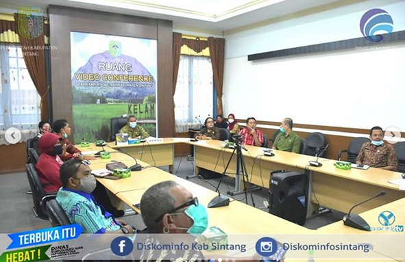Asisten II Setda Sintang Pimpin Rapat Program Pembangunan Mini Command Center (MCC)