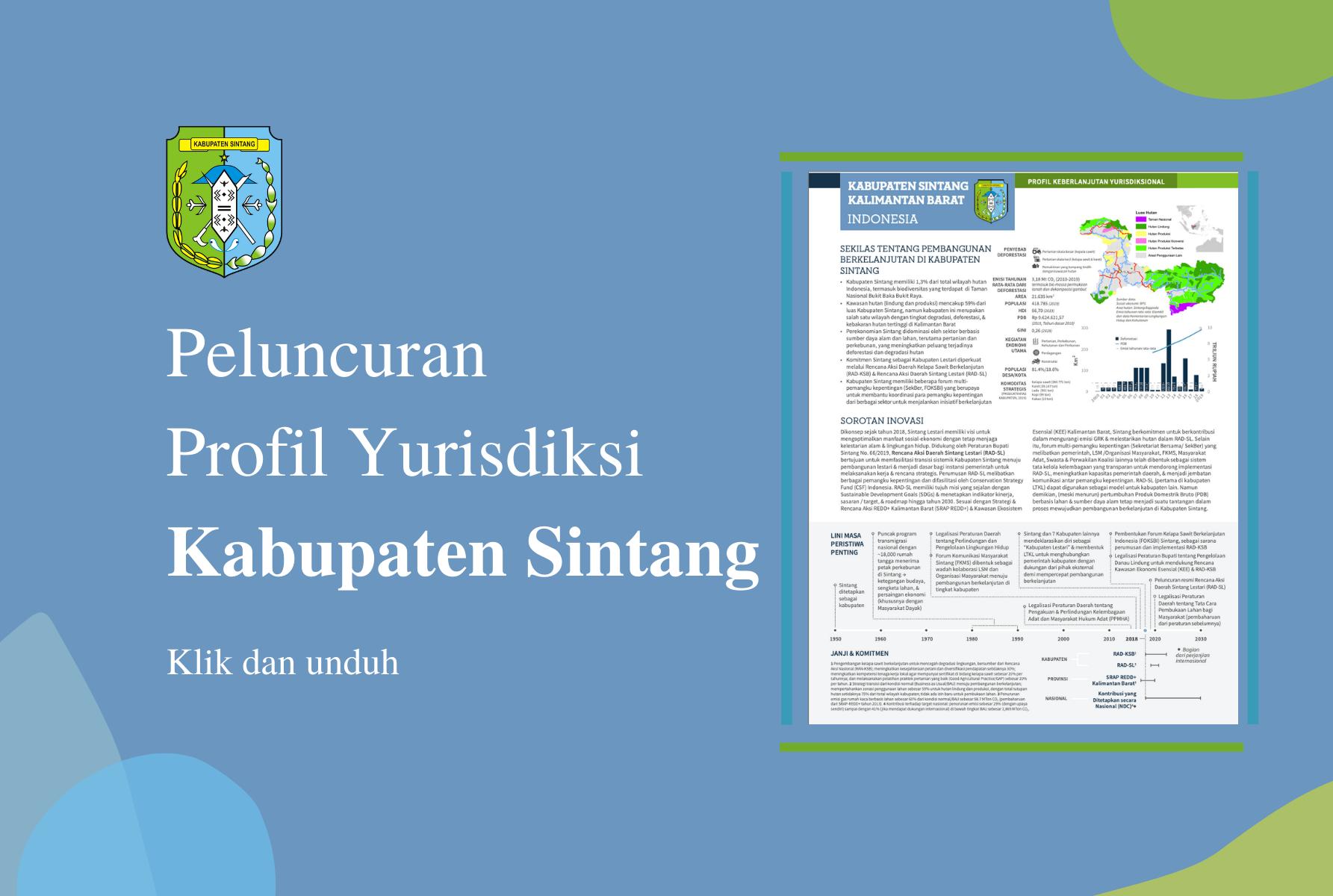 Peluncuran Profil Yurisdiksi Kabupaten Sintang
