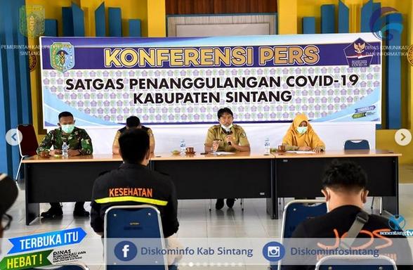 Press Release Perkembangan Penanganan Covid-19 di Kabupaten Sintang