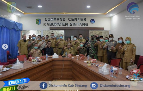 Bupati Sintang Jarot Winarno Hadiri  Peresmian Mini Command Center dan Aplikasi Si Beji