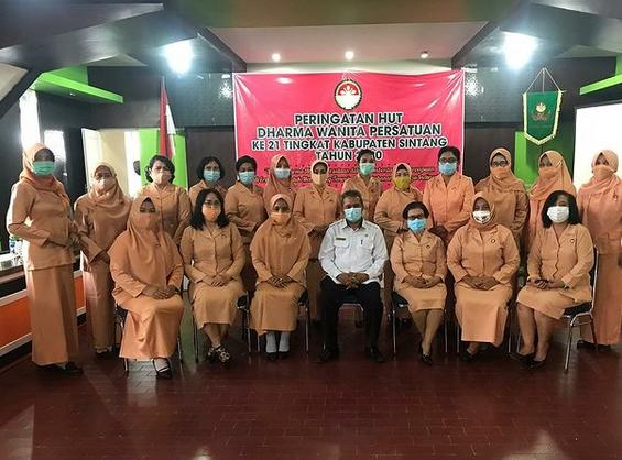 Asisten II Yustinus Menghadiri Peringatan Hut Dharma Wanita  ke 21 Tingkat Kabupaten Sintang Tahun 2020