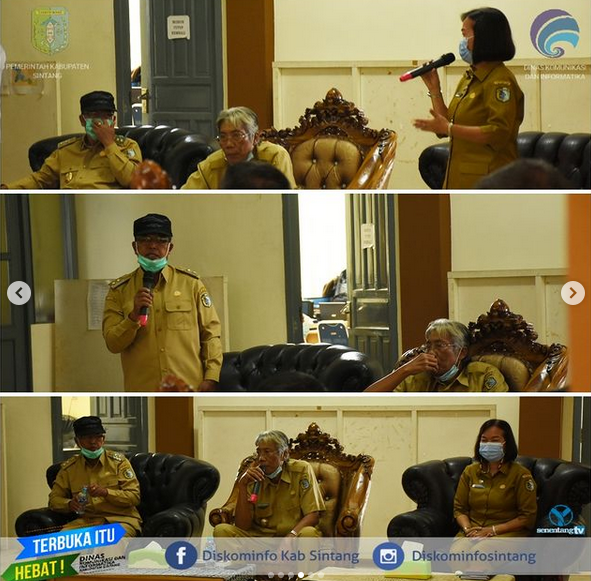 Penyambutan Bupati Dan Wakil Bupati Sintang Masa Jabatan 2021-2026 Setelah Dilantik Gubernur Kalbar
