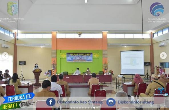 Wakil Bupati Sintang Sudiyanto Buka Rapat Evaluasi Pendapatan Asli Daerah (PAD) Kabupaten Sintang Triwulan IV Tahun 2020