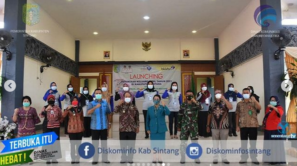Wakil  Bupati Sintang Yoseph Sudiyanto Meresmikan Launching Pendataan Keluarga Tahun 2021
